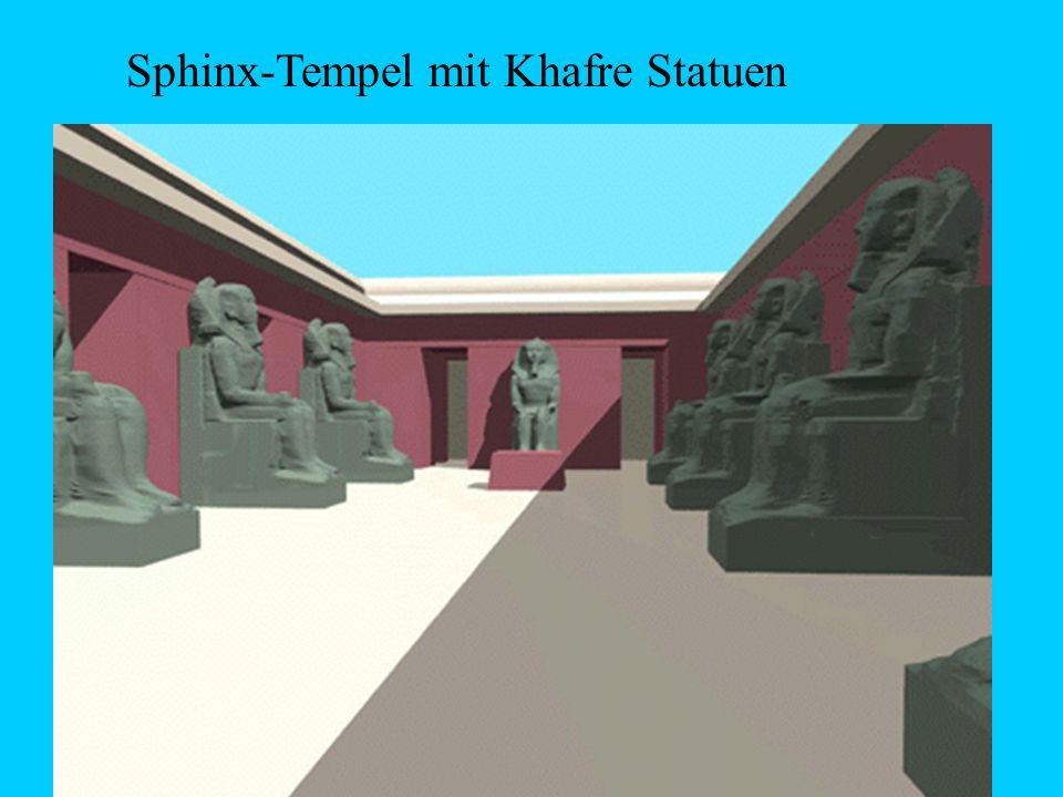 Sphinx-Tempel mit Khafre Statuen