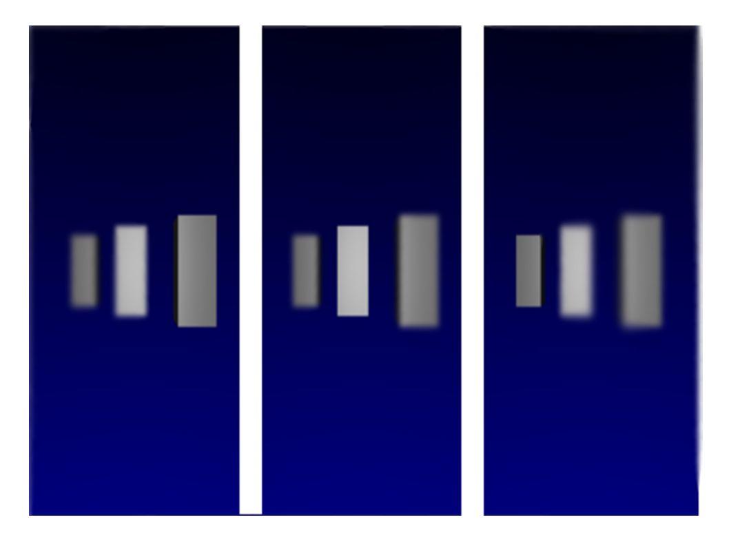 Stereografie Auf den ersten Blick undeutliches Bild Durch Verstellung der Augen wird 3D Objekt erkennbar Tiefe der Pixel sind von Bedeutung um ein stereografisches Bild zu berechnen Stereografische Bilder in Echtzeit durch Zugriff auf den Bildpuffer Farbe des Pixels von seiner Tiefe abhängig machen (Pixel-Shader)