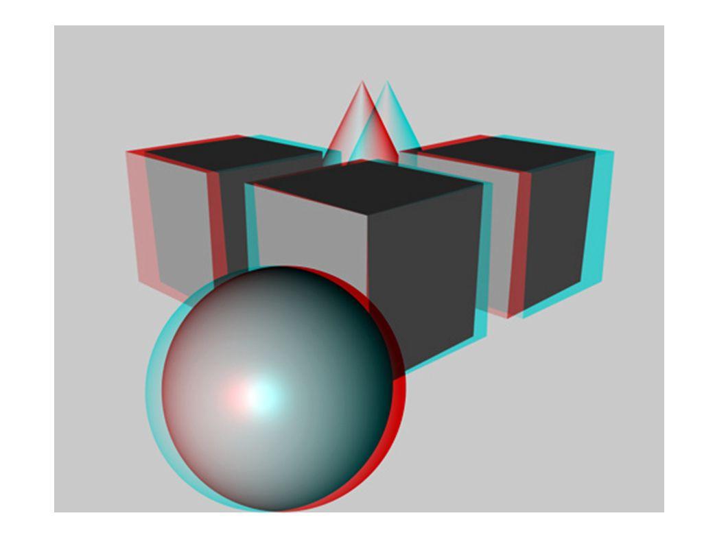 Stereo-3D-Grafik Soll das menschliche Auge täuschen Dreidimensionalität von Objekten wird vorgetäuscht