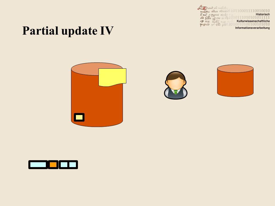 Partial update IV