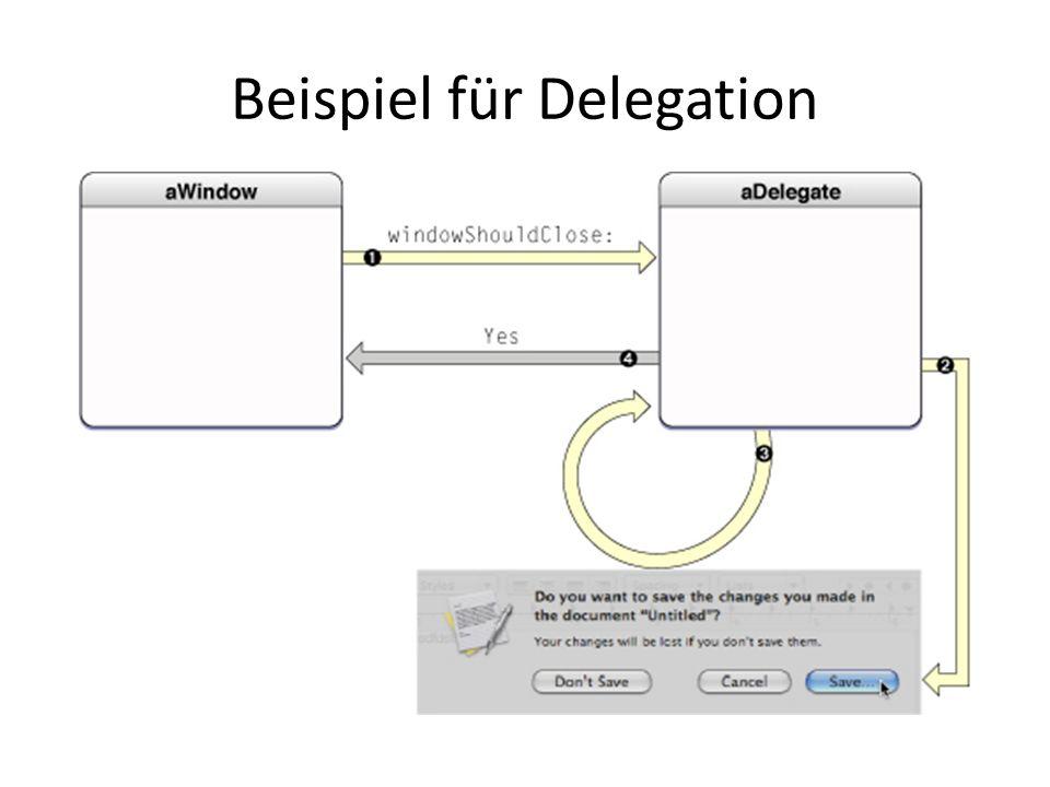 Beispiel für Delegation