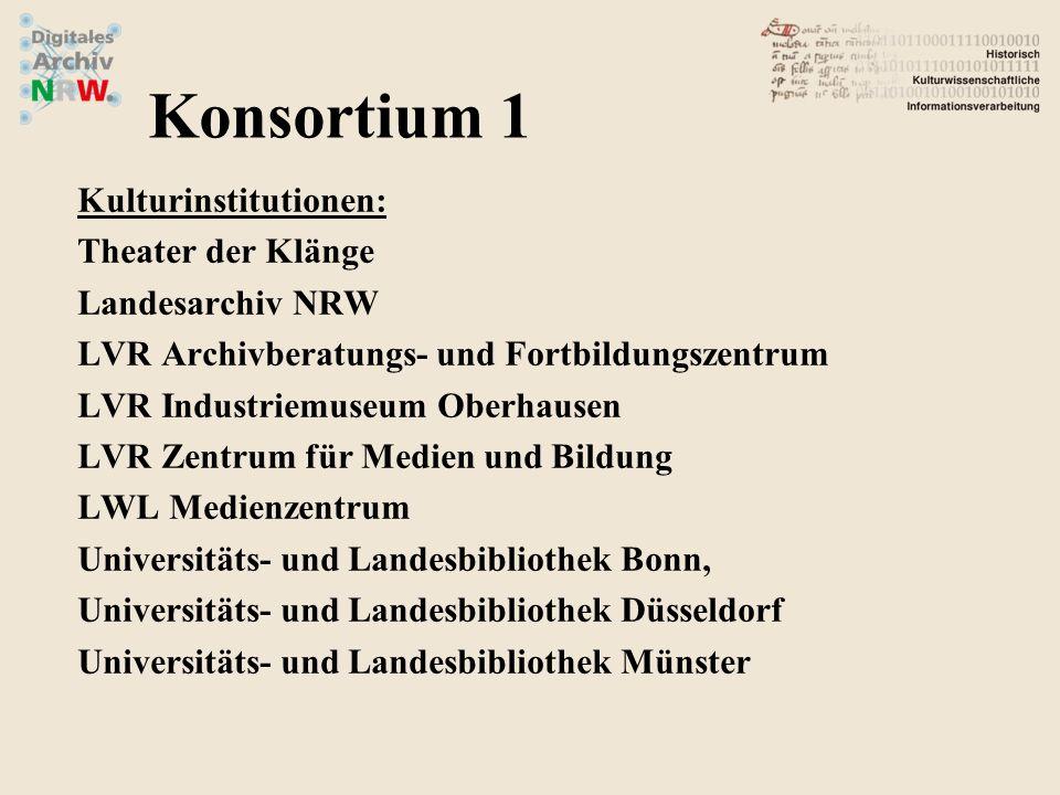 Kulturinstitutionen: Theater der Klänge Landesarchiv NRW LVR Archivberatungs- und Fortbildungszentrum LVR Industriemuseum Oberhausen LVR Zentrum für M