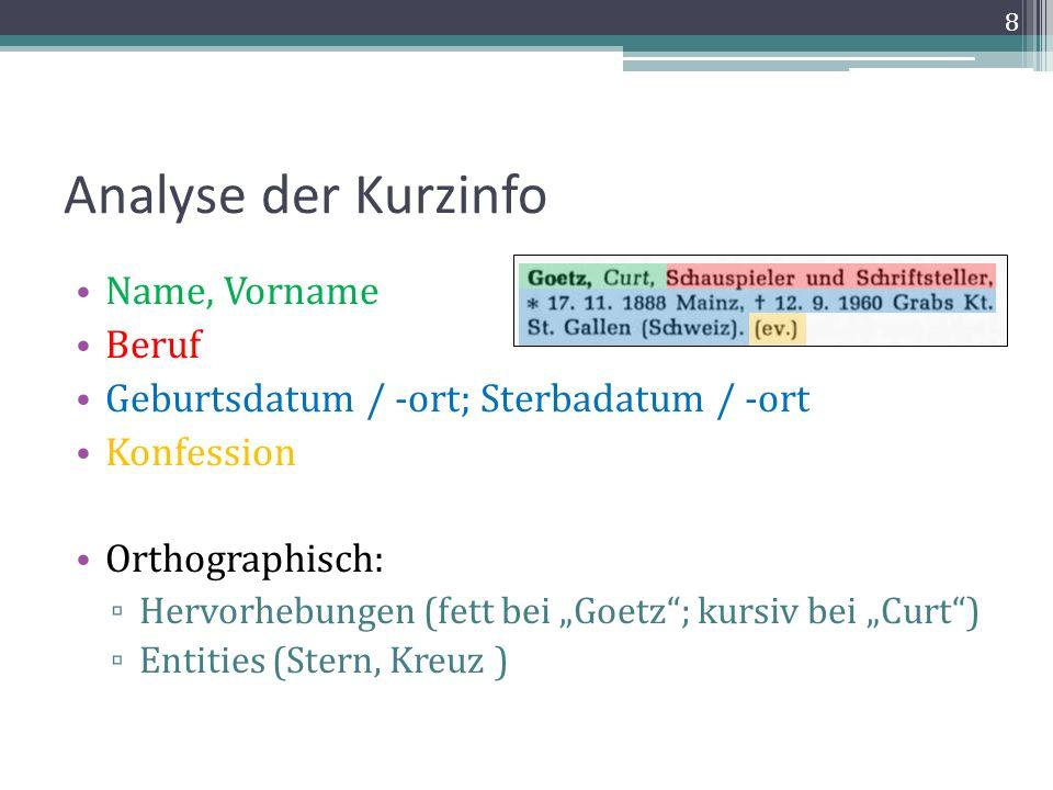 Seitenumbrüche im Original Seitenumbrüche werden in der XML repräsentiert durch Übergang von einer Seite zur anderen durch | Auch Seitenzahlen nach anderem Format möglich (XV|XVI; 10a|10b; 45.1|45.2 …) Vorteil: PDF wird 1:1 repräsentiert 19
