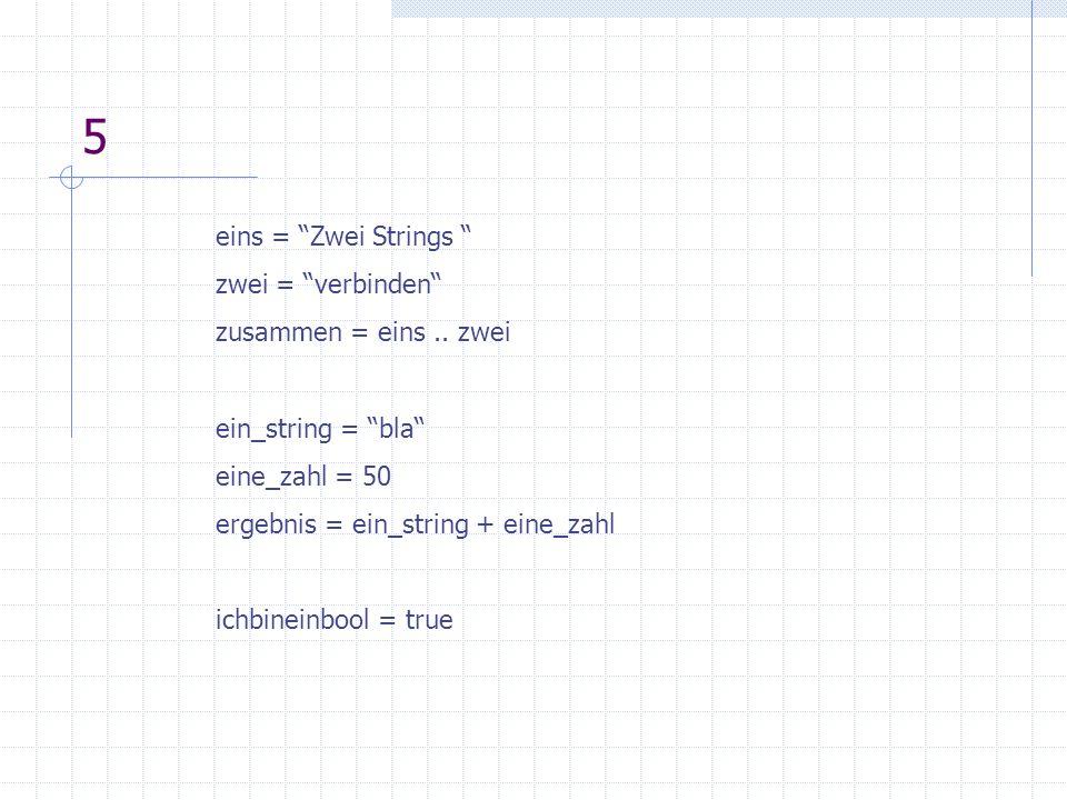 6Tabellen - ein aggregierter Datentyp, in Lua große Bedeutung - für Listen, Arrays, assoziative Arrays, geschachtelte Tabellen - werden auch zum Simulieren von Objekten benötigt tab = { value = 123, text = hello } print( x.value) print( x.text)