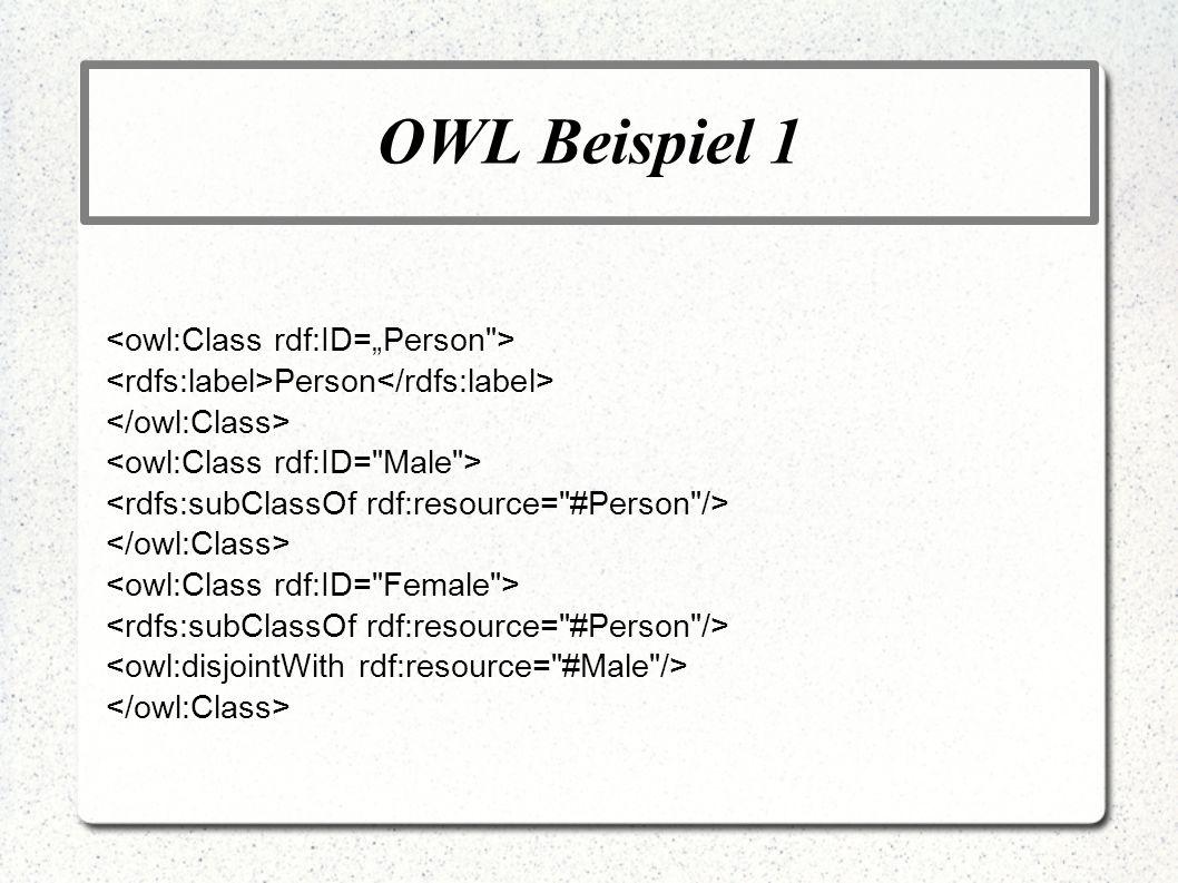 OWL Beispiel 1 Person