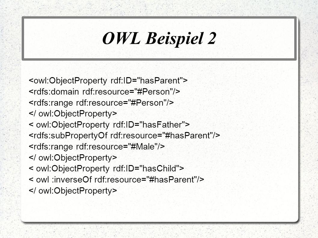 OWL Beispiel 2