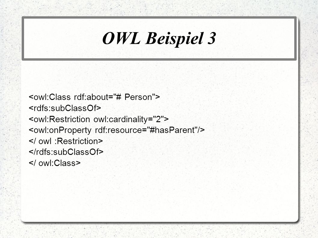 OWL Beispiel 3