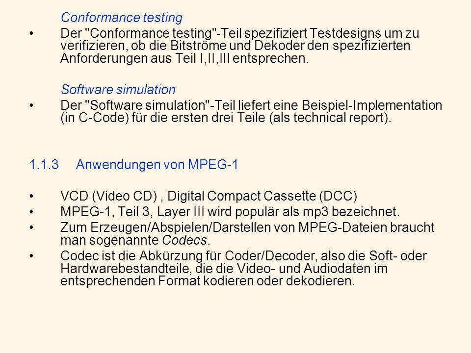 Conformance testing Der