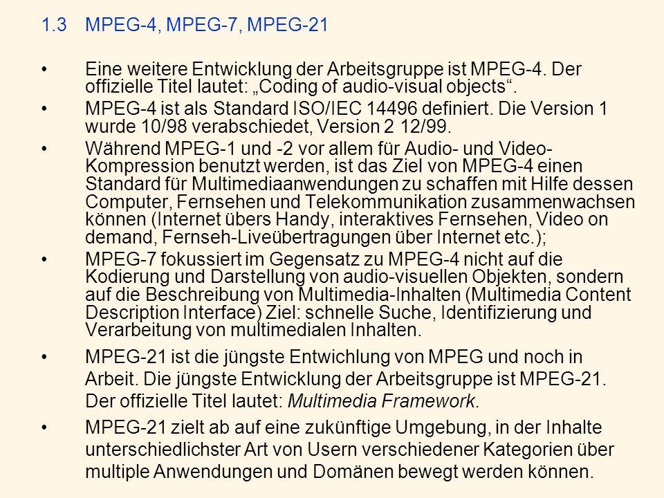 2.5MP3-Files Der vom Encoder erzeugte Datenstrom wird in eine MP3-Datei geschrieben.