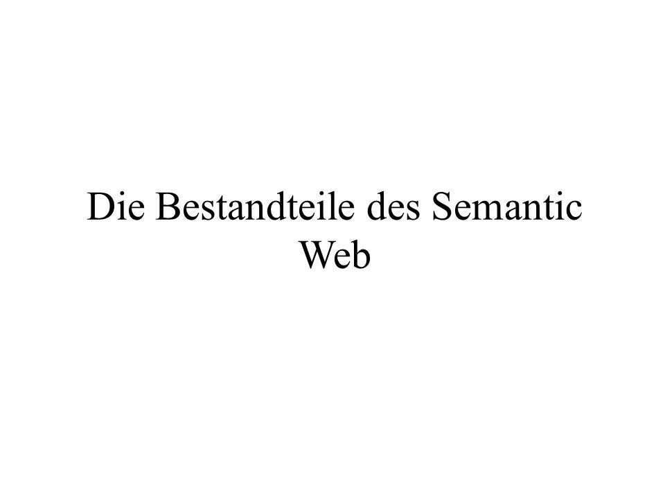 Die Bestandteile des Semantic Web