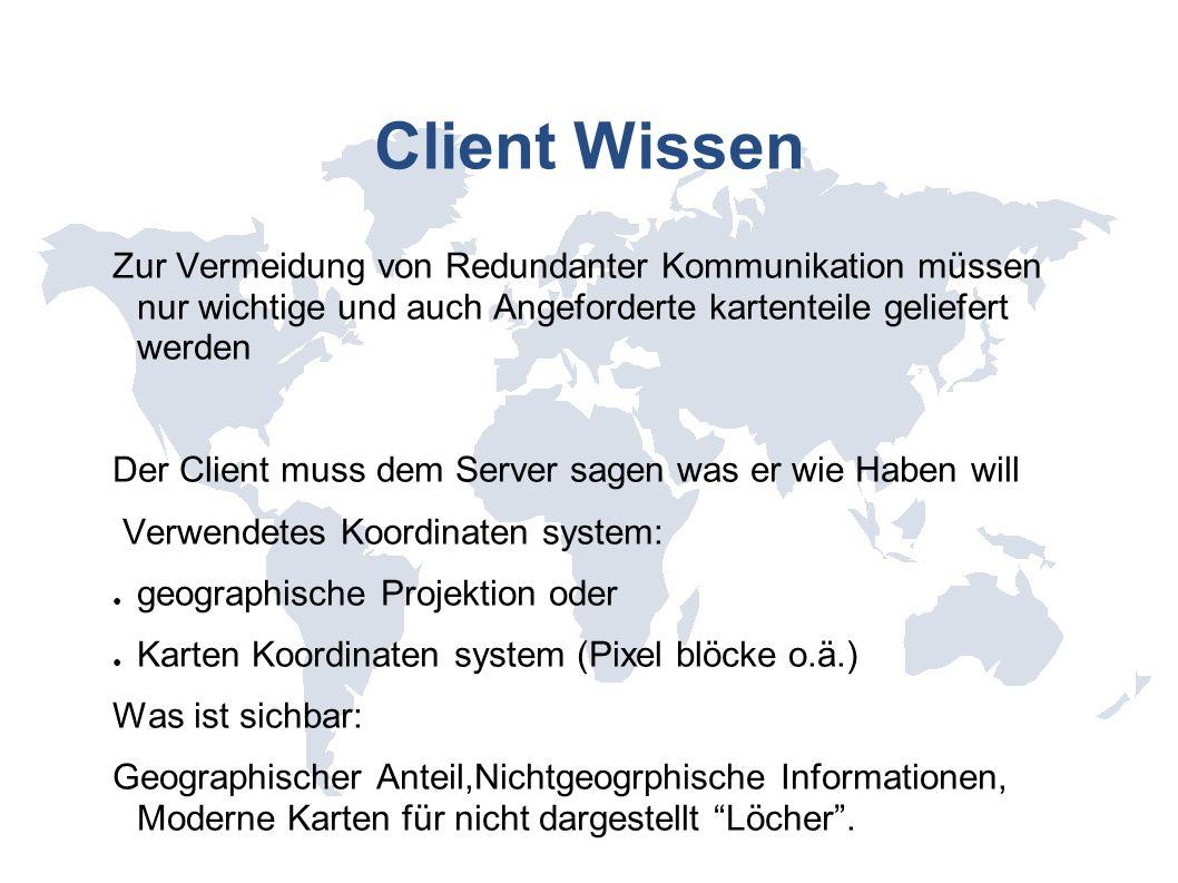 Client Wissen Zur Vermeidung von Redundanter Kommunikation müssen nur wichtige und auch Angeforderte kartenteile geliefert werden Der Client muss dem