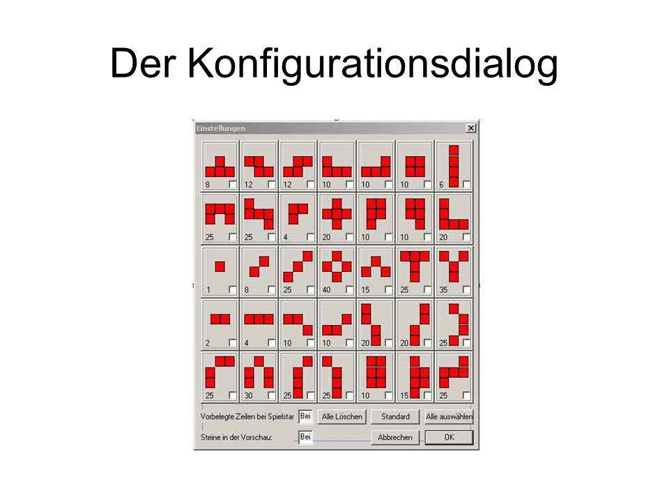 Der Konfigurationsdialog