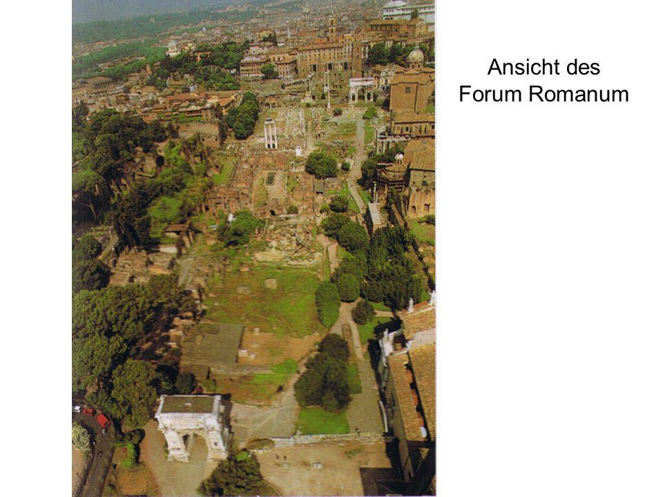 Ansicht des Forum Romanum