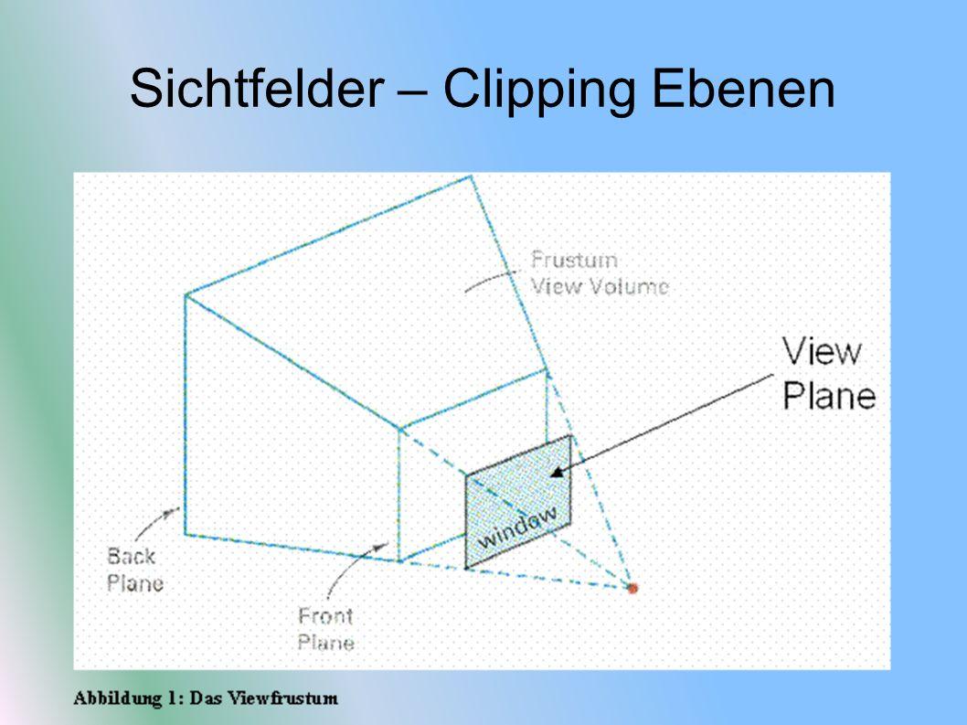 Sichtfelder – Clipping Ebenen