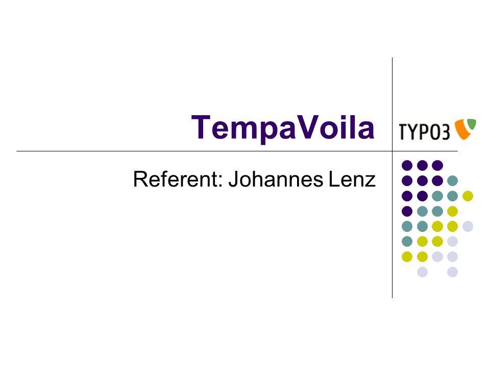 TempaVoila Referent: Johannes Lenz
