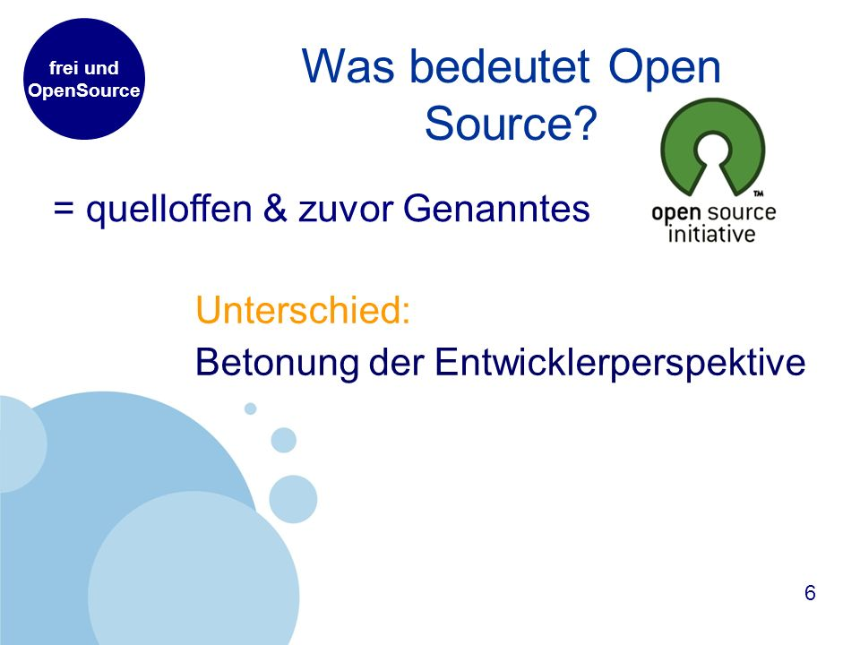 Was bedeutet Open Source.