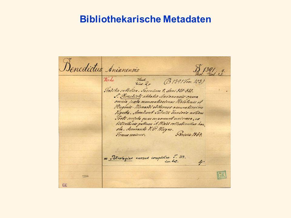 Bibliothekarische Metadaten