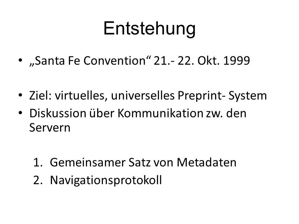 Entstehung Santa Fe Convention 21.- 22. Okt.