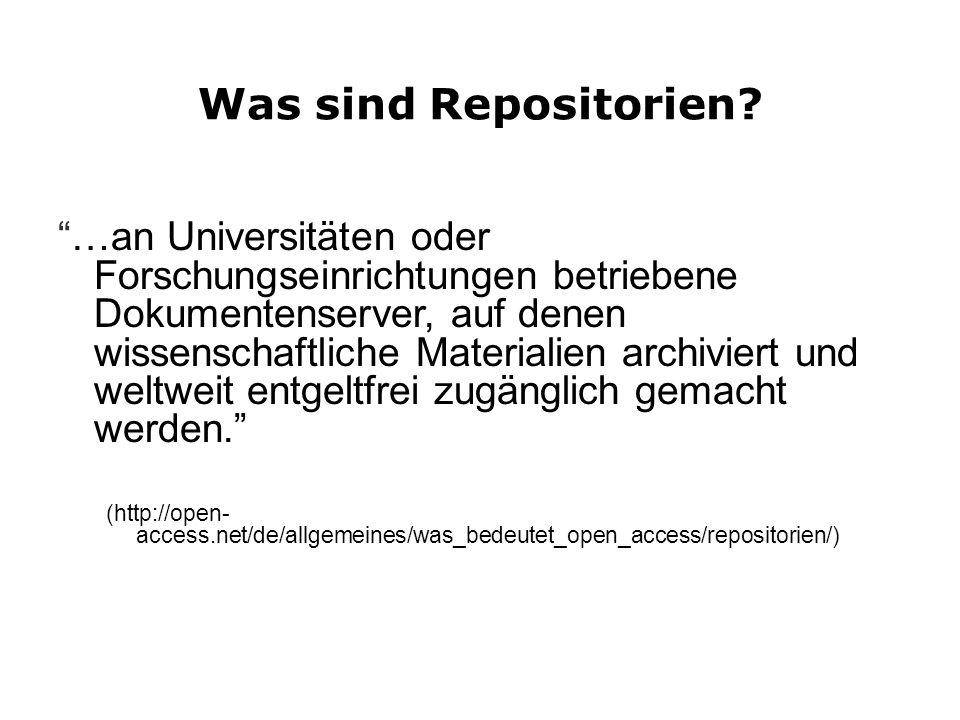 Was sind Repositorien.