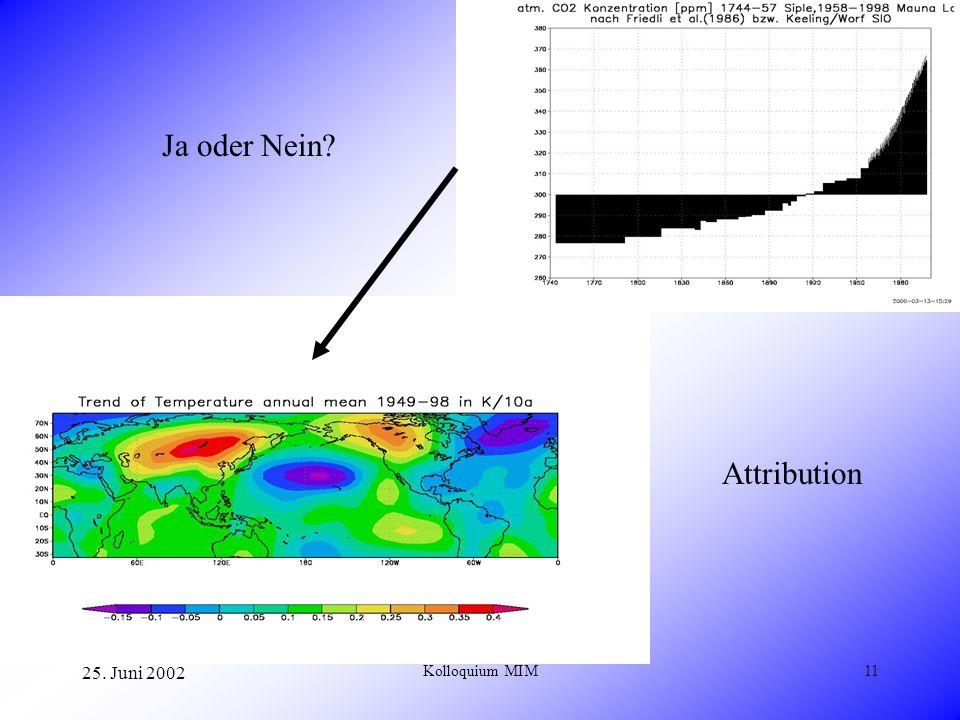 25. Juni 2002 Kolloquium MIM11 Ja oder Nein? Attribution