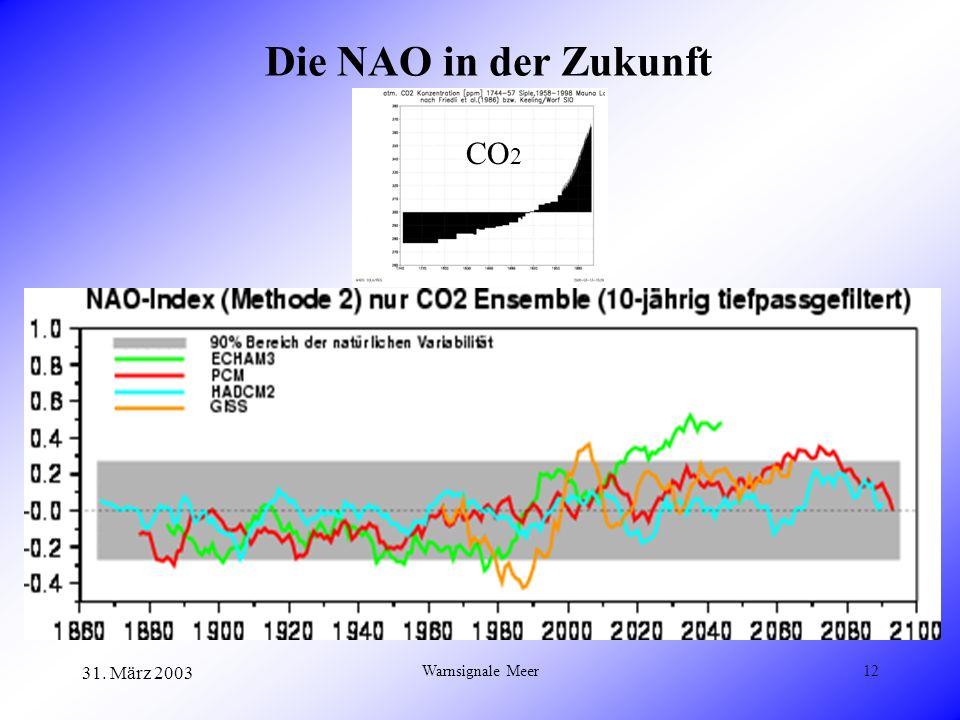 31. März 2003 Warnsignale Meer12 Die NAO in der Zukunft CO 2