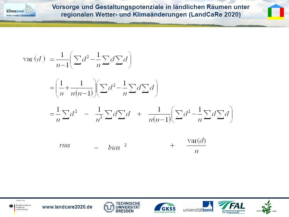 Vorsorge und Gestaltungspotenziale in ländlichen Räumen unter regionalen Wetter- und Klimaänderungen (LandCaRe 2020) www.landcare2020.de