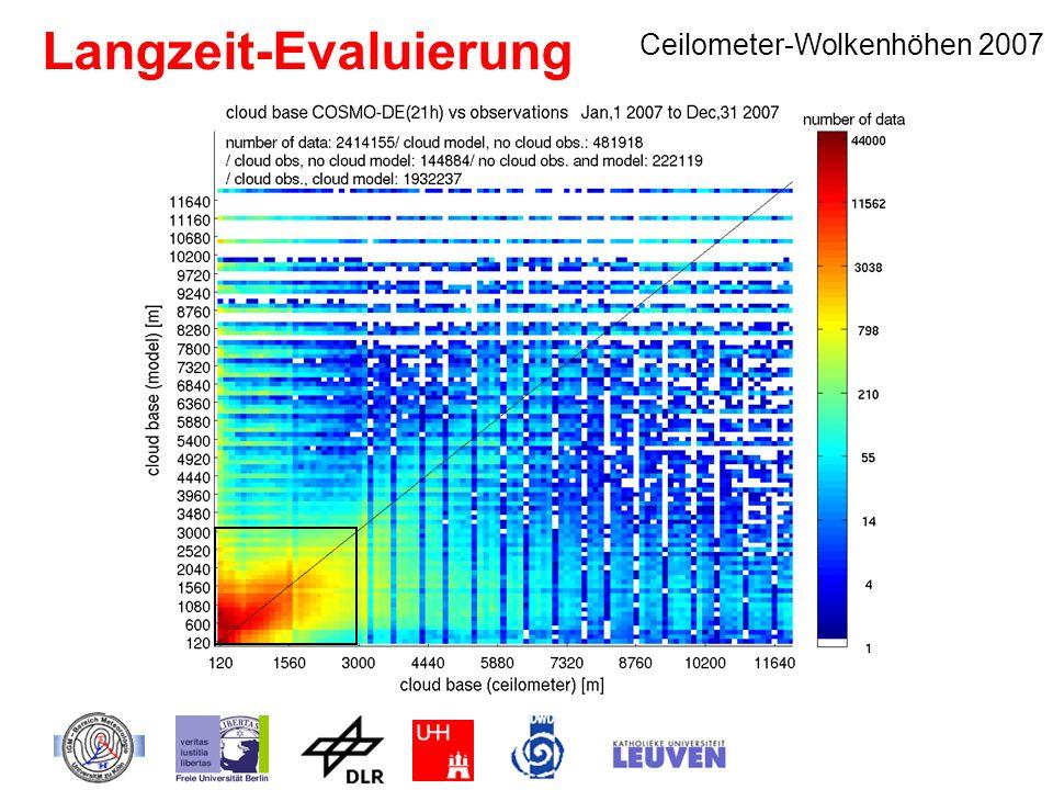 Langzeit-Evaluierung Ceilometer-Wolkenhöhen 2007