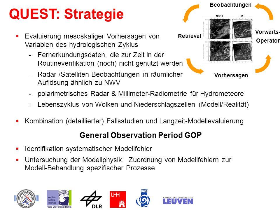 -Fernerkundungsdaten, die zur Zeit in der Routineverifikation (noch) nicht genutzt werden -Radar-/Satelliten-Beobachtungen in räumlicher Auflösung ähn