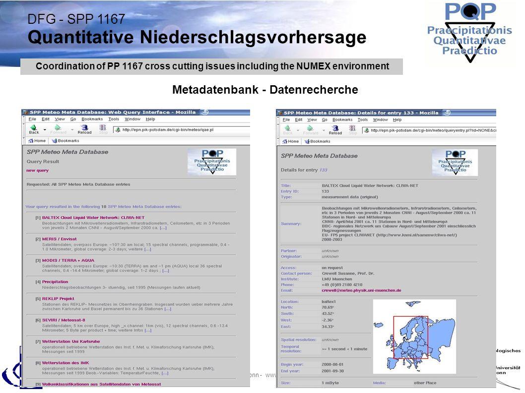 DFG - SPP 1167 Quantitative Niederschlagsvorhersage A.