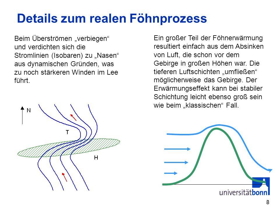 9 Die gut durchmischte Grenzschicht Die Grenzschicht ist die wesentlich vom Tagesgang der Energiebilanz der Erdober- fläche beeinflusste Luftschicht (100 m – 3 km).