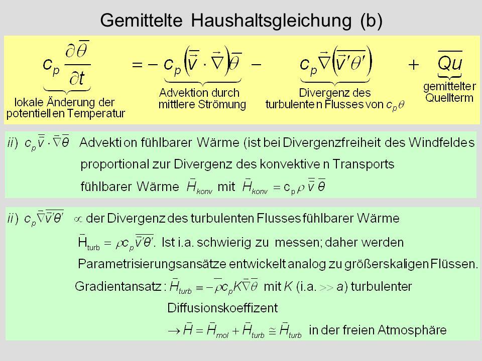 Gemittelte Haushaltsgleichung (b)