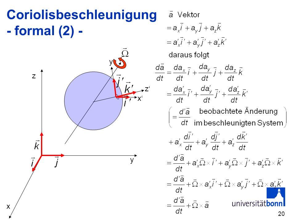 20 Coriolisbeschleunigung - formal (2) - x y z x z y