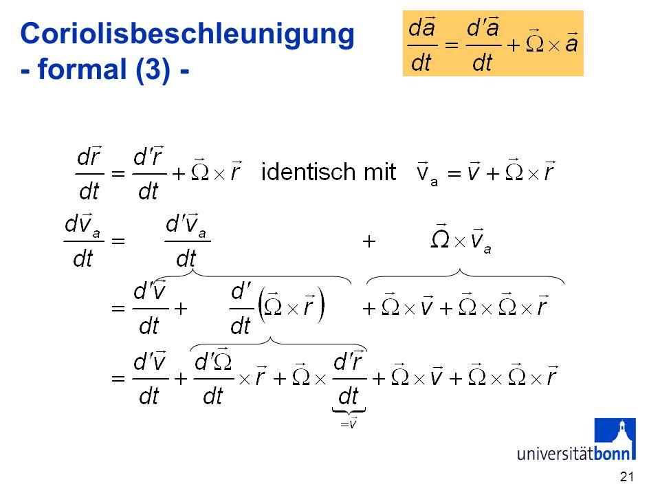 21 Coriolisbeschleunigung - formal (3) -