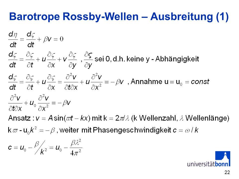 22 Barotrope Rossby-Wellen – Ausbreitung (1)