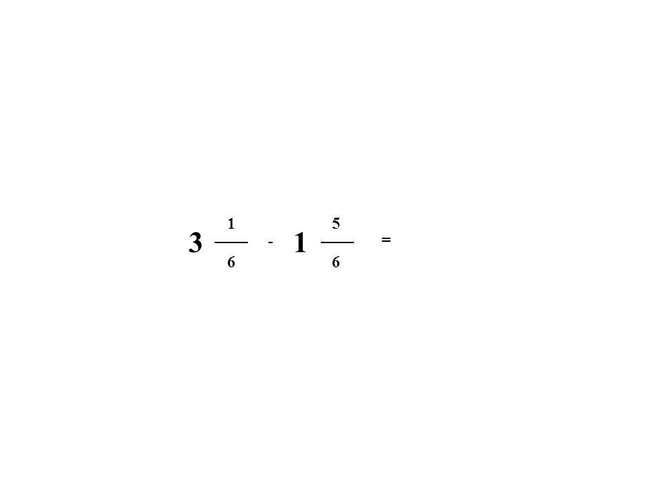 6 1 6 5 - = 31