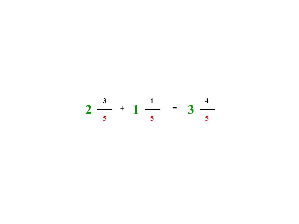 ____ 5 3 5 1 + = 4 5 213