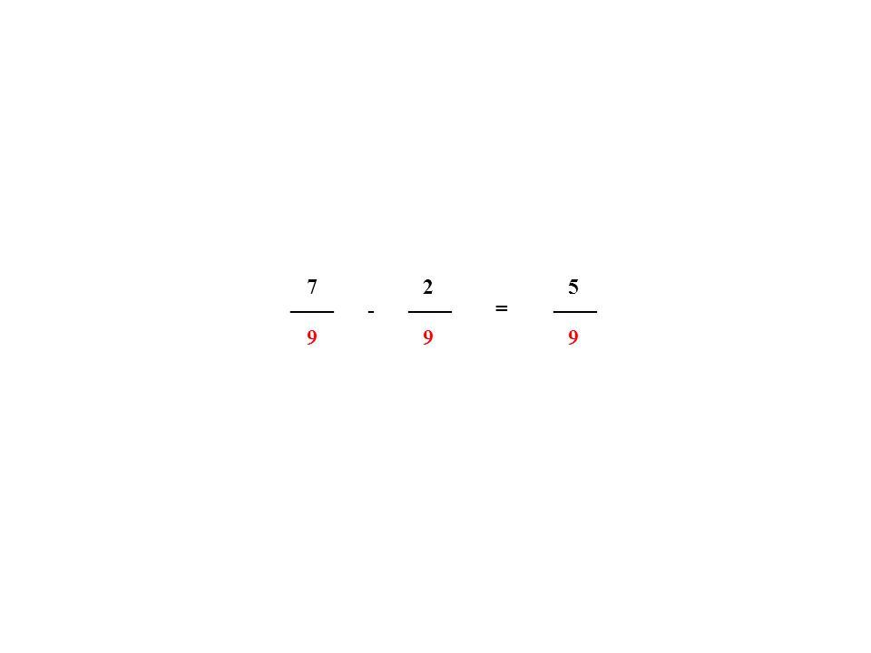 4. Schritt: Subtrahieren gleichnamiger gemischter Zahlen