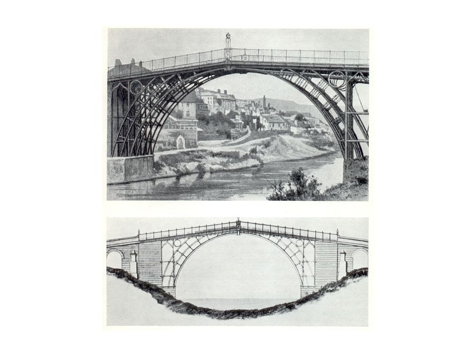 Bereits 1779 konstruierte der englische Ingenieur John Wilkinson, den seine Zeitgenossen iron mad nannten, die erste Eisenbrücke Europas über den Severn bei Coalbrookdale.