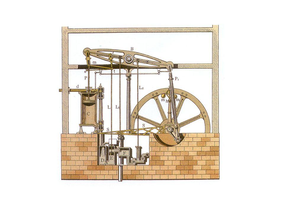 The steam engine designed by James Watt