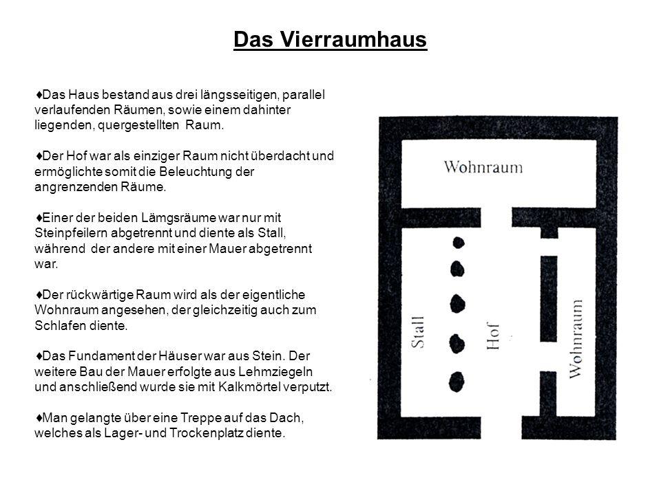 Wohnhäuser und Zelte im antiken Israel Das Vierraumhaus Das Haus eines Reichen in Jerusalem Der Palast Das Zelt der Beduinen