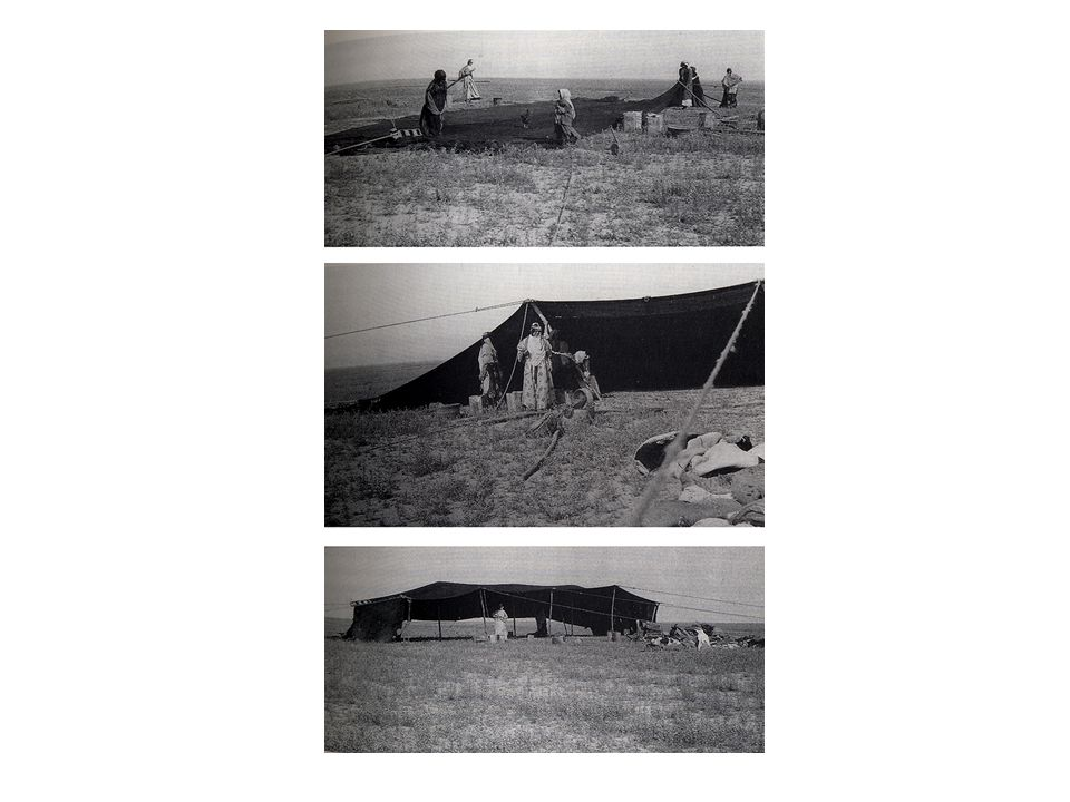 Das Zelt der Beduinen Das Zelt ist optimal an die Lebensbedingungen der Wüste angepasst. Der Standort des Zeltes ist von der Jahreszeit abhängig. Drei