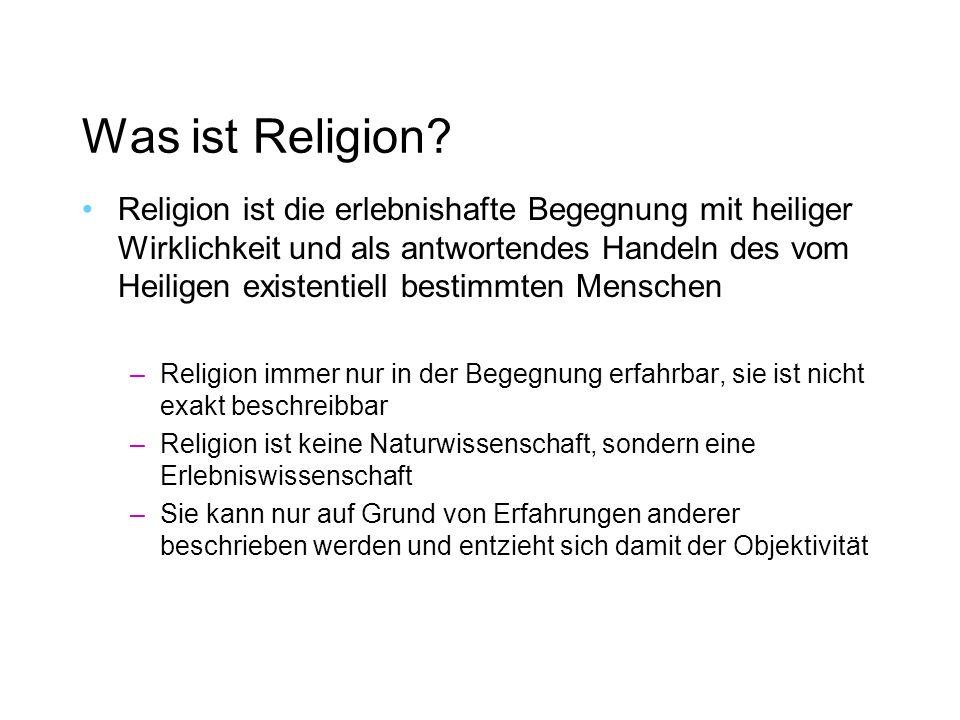 Was ist Religion.