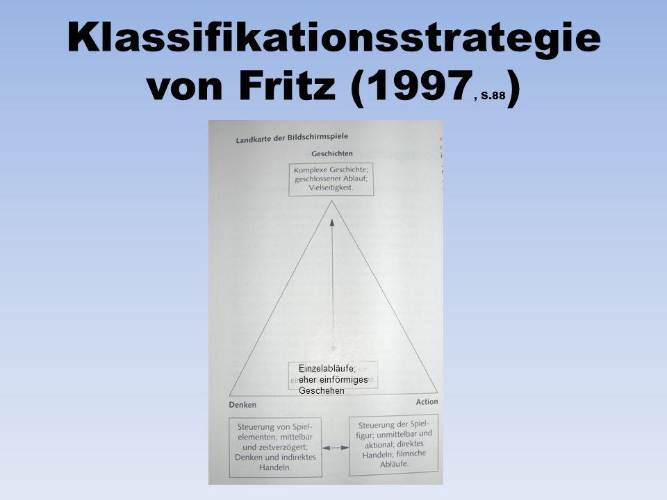Klassifikationsstrategie von Fritz (1997, S.88 ) Einzelabläufe; eher einförmiges Geschehen