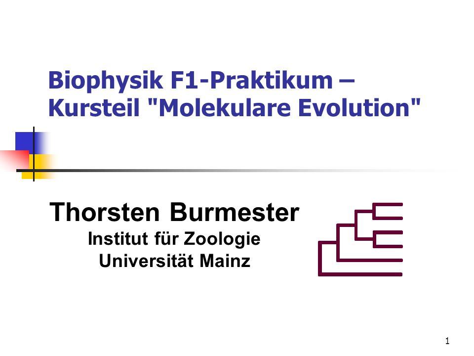 1 Biophysik F1-Praktikum – Kursteil