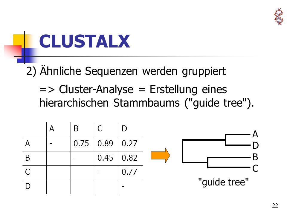 22 CLUSTALX
