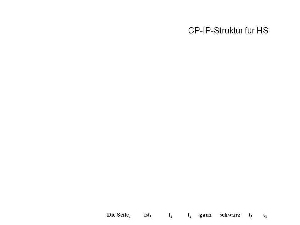 Die Seite 4 t4t4 t3t3 ist 3 schwarz t4t4 ganz t3t3 CP-IP-Struktur für HS