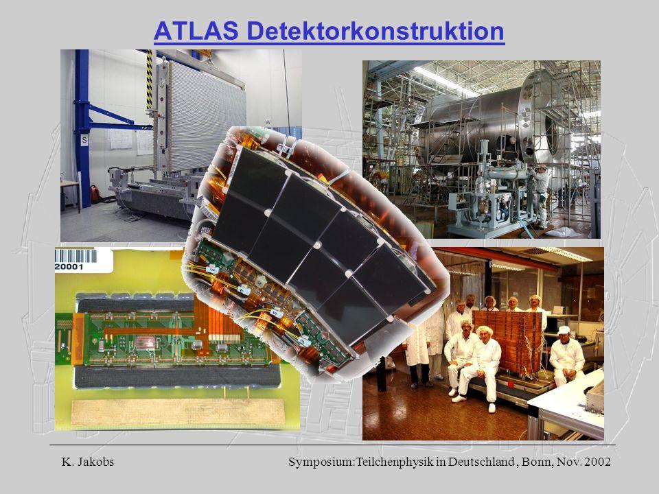 K. Jakobs Symposium:Teilchenphysik in Deutschland, Bonn, Nov. 2002 ATLAS Detektorkonstruktion