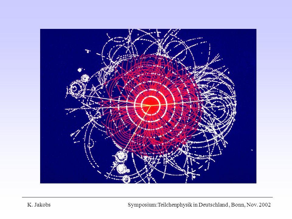 K. Jakobs Symposium:Teilchenphysik in Deutschland, Bonn, Nov. 2002