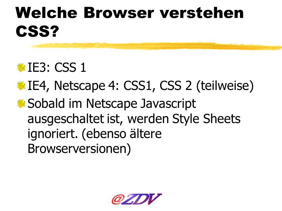 Was geht in Netscape 4 und IE4.