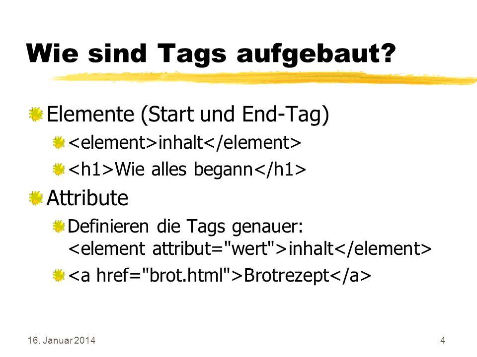 16.Januar 2014105 Übung: Schiebebilder: Javascript Schiebebild.html anlegen.